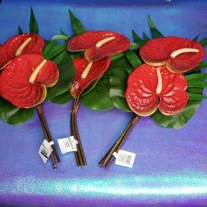 Opalhouse set of 3 faux anthurium bouquet stems